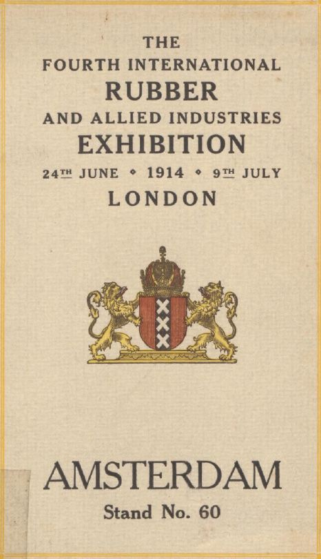 The 4th International Rubber and allied Industries Exhibition 24th June 1914 - 9 July London, page 40