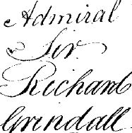 Last Will of Admiral Richard Grindall. Signed 23 Sep 1812, proved 14 Jun 1820