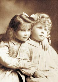 with his sister Elisabeth